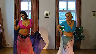 Shione & Sophie big titty belly dancing