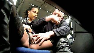 Hooker screwed in a car