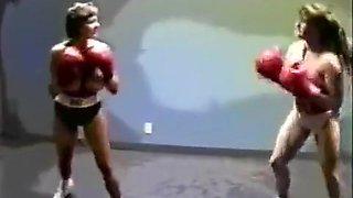 FTV Blake vs Mary Ann topless boxing and wrestling