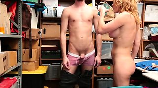 Busty Blonde Thief Krissy Lynn Gets Stripped And Fucked Hard
