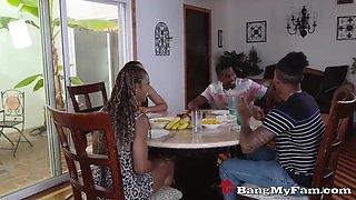 fucked up ebony family reunion turns into taboo sex orgy