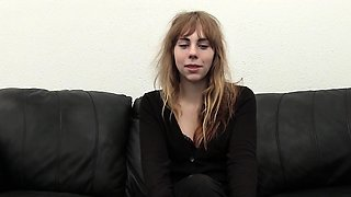 Ditzy Nerd Auditions for Porn With Anal Creampie
