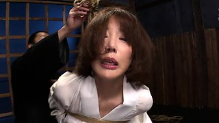 Restrained Asian slut drilled deep and rough in every hole