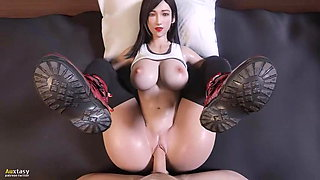 Tifa Lockhart's fuck and get creampie by Auxtasy