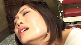 Tied Up Asian Getting Abused By Two Cocks