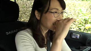 Delightful Oriental milf with glasses needs to be pleased