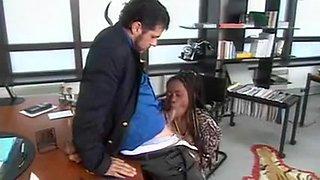Ebony Babe anal fun