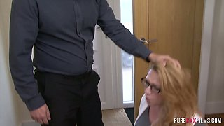 British whore wife Harmony Reigns is fucked by her angry husband