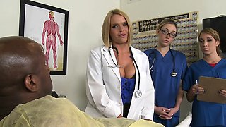 CFNM nurses have hardcore hospital room orgy