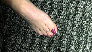 Granny's nylon feet