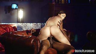 Erotic interracial sex in the office with pornstar Valentina Nappi
