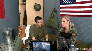 Military Newbie Nicole Aniston Has Her First Fuck In Camp With Her Roommate