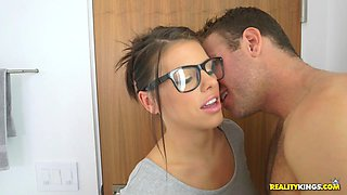 adriana chechik found her stepbrother naked in the bathroom and gave him blowjob