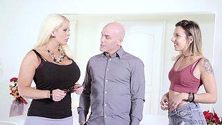 Sophia Grace's husband brings his mistress home for a threeway
