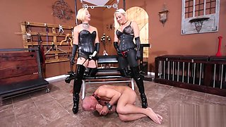 Slave Trained by the Strap ON