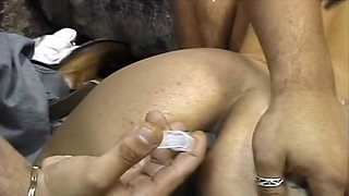 Horny Brazilian Babe Double Penetrated