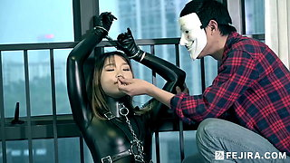 Fejira com – Captured girl in latex catsuit 2