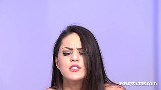 Sexy babe in stockings Carolina Abril gets her anus rimmed and gets her pussy fucked