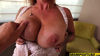 Anal Fucking Amateur Gilf fresh out of Prison with Big Natural Tits POV