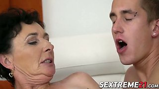 naughty granny pixie loves taste of jasons jizz on her face