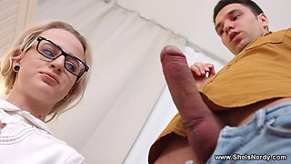 She Is Nerdy - Hanna Rey - College test sex preparation