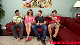 Family Taboo Mom take care of her three step sons
