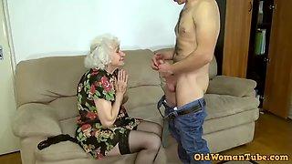 Grandma porn star norma fucking her boy toy