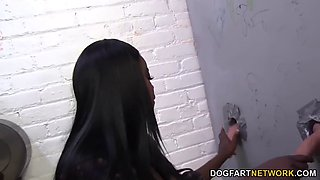 Pheona Monroe sucks strangers dick at gloryhole