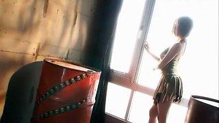 Exotic Japanese whore Reira Amane in Amazing Stockings, Fingering JAV clip