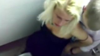 Drunk sex caught in the bar toilet