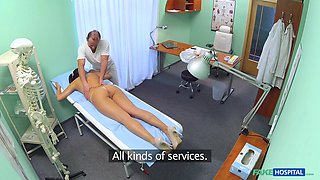 Anna in Doctor needs the nurse to help him with his master plan - FakeHospital