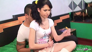 Latina Step Daughter Seduce to Fuck by Dad when Home alone