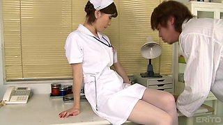 Nurse Yuria Ashina enjoying some steamy pussy fucking at a clinic