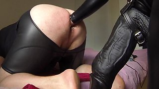 Mistress pov 17 mr cock 30 cm as strapon. xxl mystim plug