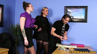 CFNM milfs getting banged in the office