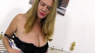 British housewife Lily May loves playing in bed