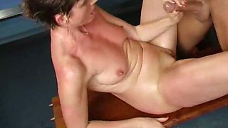 Winsome granny with big nipples Marketa gets wet muff