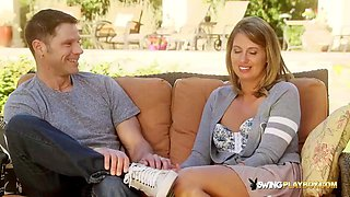 Swinger couple discusses their fantasies and get ready to party