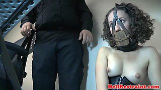 Submissive BDSM slave getting dominated