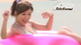Hottest Japanese slut Tina Yuzuki, Jessica Kizaki, Miyuki Yokoyama in Fabulous Solo Girl, Beach JAV scene