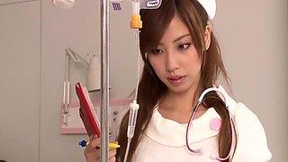 Japanese junior nurse masturbating
