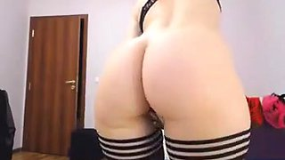 Hot redhead buttplug in ass big round ass perfect tits