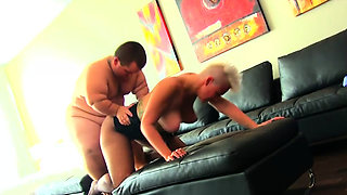 Midgets cockriding bitch likes it rough