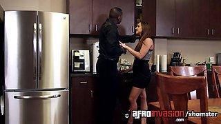 adara hard-working to earn her boss big black cock amirah!