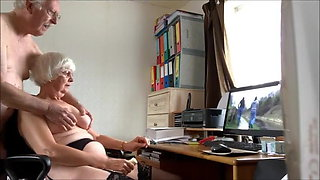 Kay and her cuck watch porn