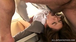 Arousing Asian doll Yuna Shiina gives amazing blowjob