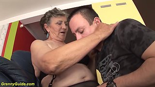 chubby granny fucked by step grandson