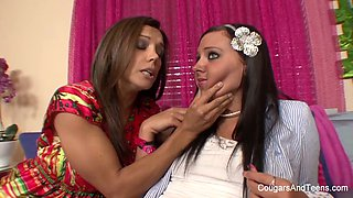 busty milf seduces and punishes the cute babysitter