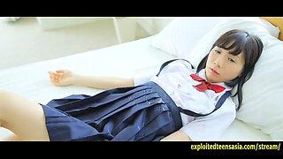 Cute machida misana jav debut teen teases taking off panties