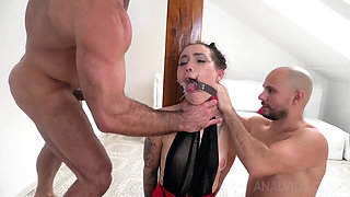Sexy Petite Teen Lady Double Penetrated in a Nasty Crazy Gangbang